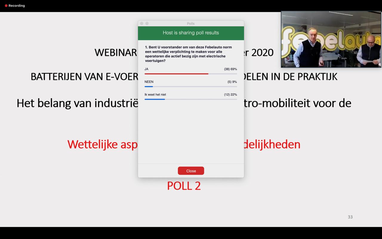 Webinar 24/11/2020: regelgeving en verantwoordelijkheden E-batterijen