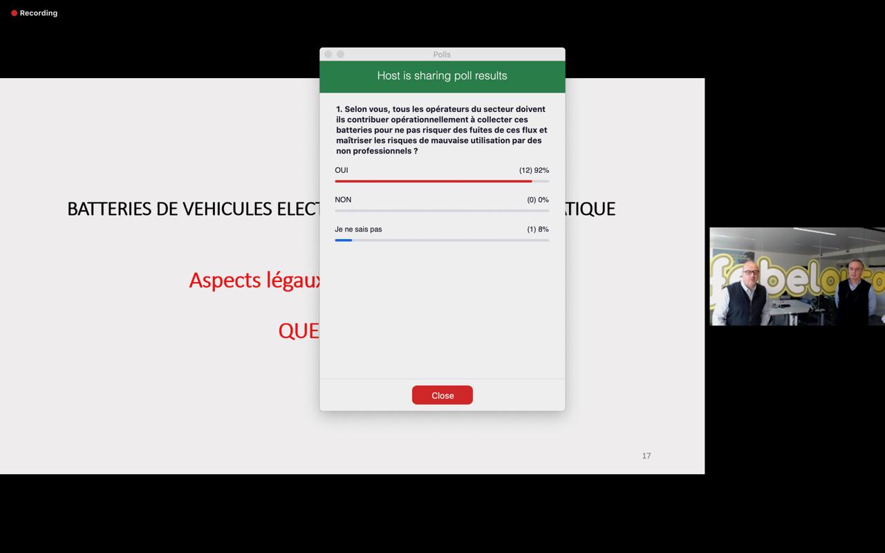 Webinar 24/11/2020: réglementation et responsabilités concernant les batteries électriques